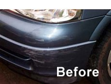 Before car scratch removal