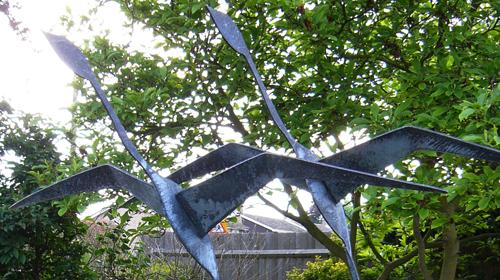 iron water sculpture