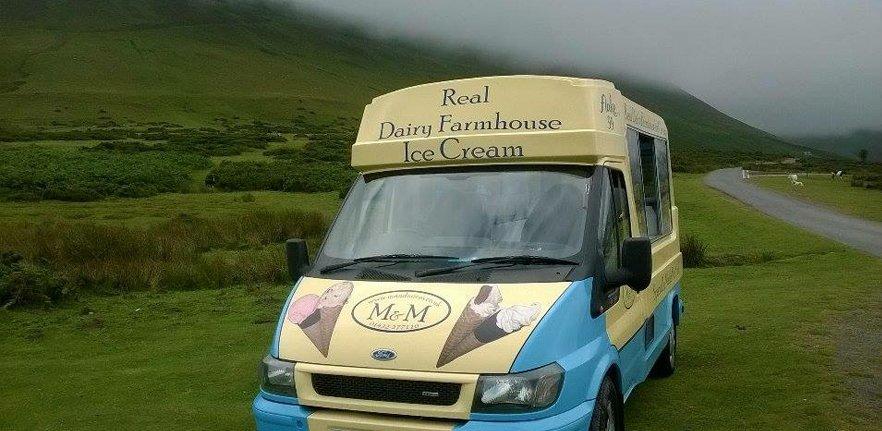 M & M ice cream van