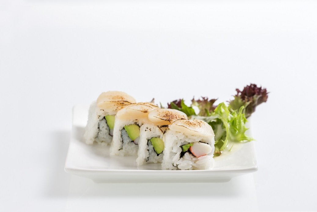 Grilled Scallop & Avocado Roll