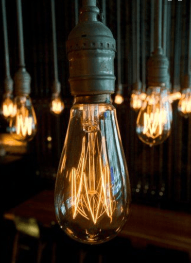 several electric bulbs