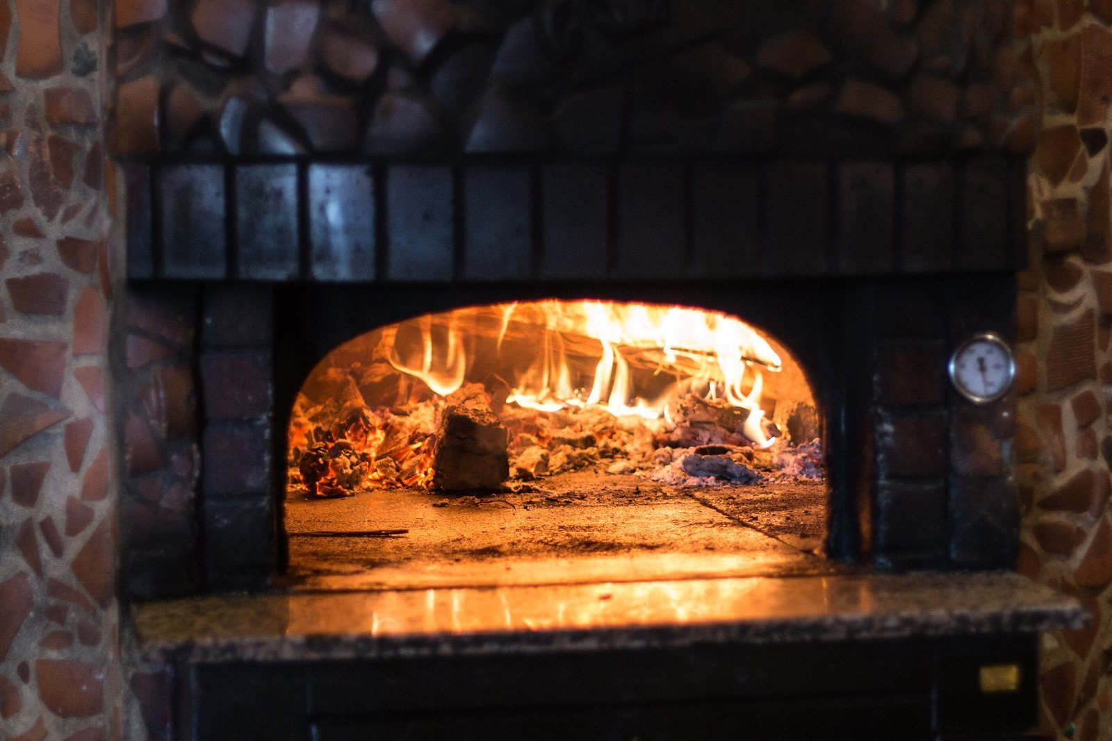 Fireplace at La Cantina, Italian Ristorante in Hamilton