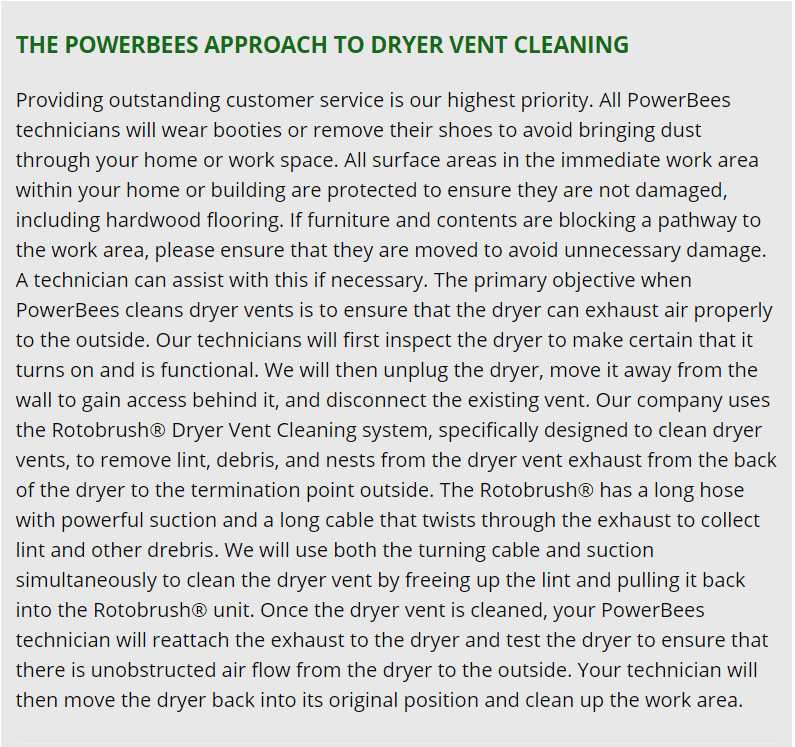 quincy dryer vent cleaning