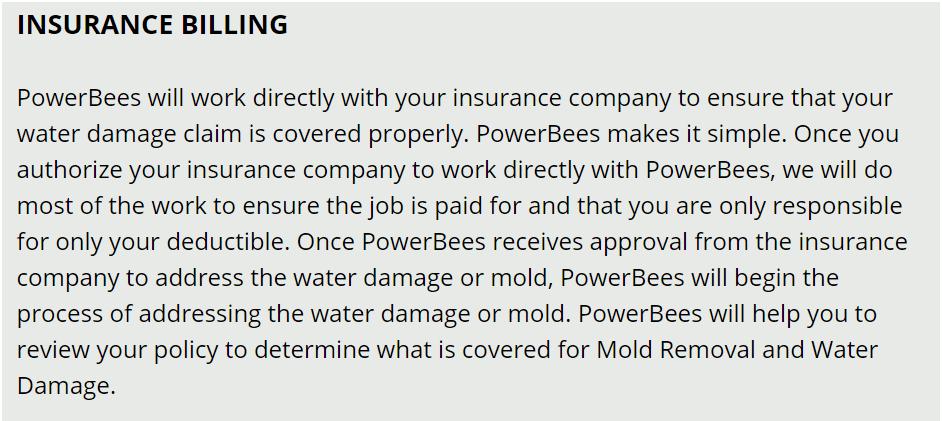 STONEHAM  ma water damage insurance billing