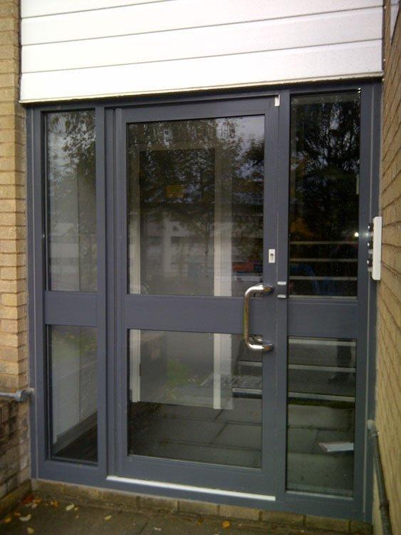 Grey door frames