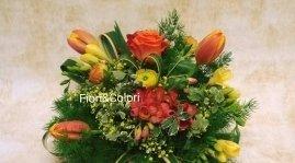 Fiori freschi -tonalita' arancio giallo -