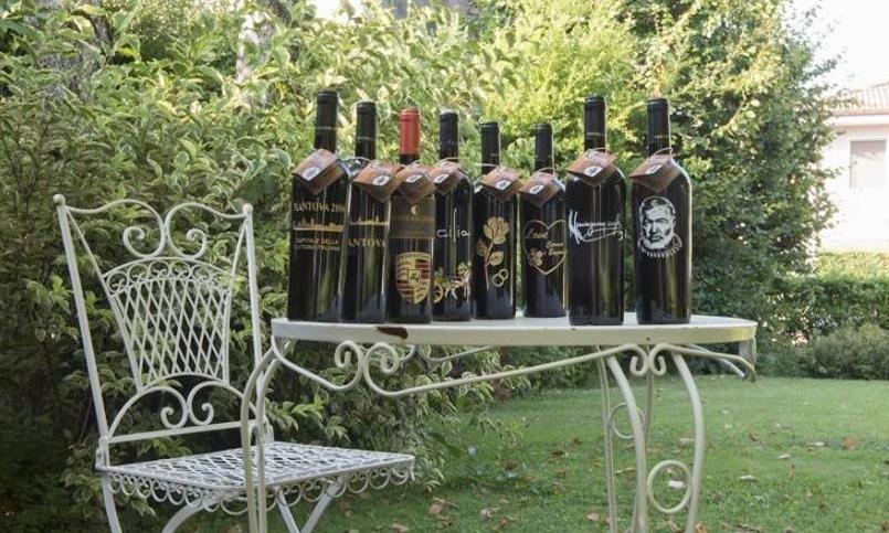 bottiglie incise personalizzate Mantova