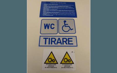 adesivi per segnalazione