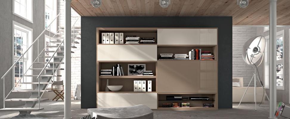 libreria in legno Bergamo