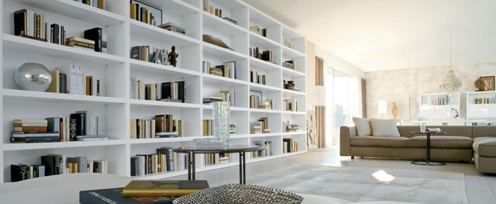 libreria grande parete Bergamo