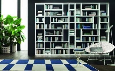 libreria a muro bianca
