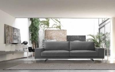 divano due posti grigio