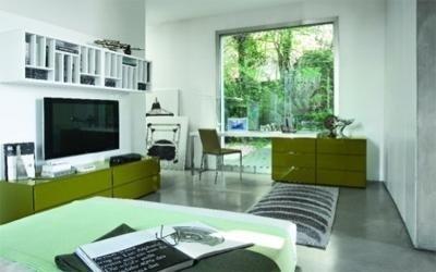cassettiera scrivania in verde prato
