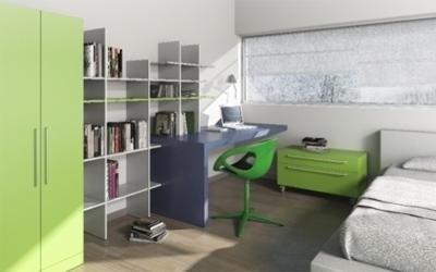 scrivania cameretta con libreria basic