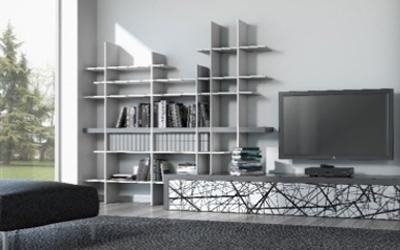 libreria Takebook in alluminio