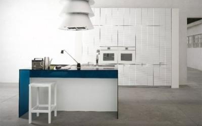 cucina Brick con bancone