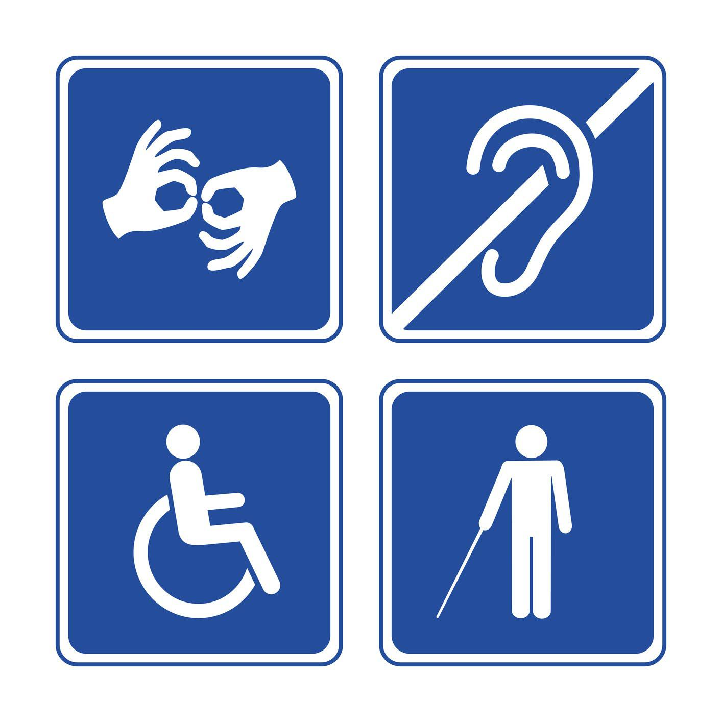 Image the symbols of people with disabilities