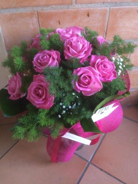 Bouquet 12 Rose Fucsia