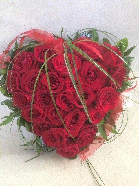 bouquet Cuore di Rose Rosse