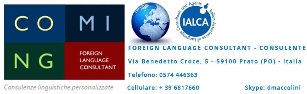 foreign language consultant prato