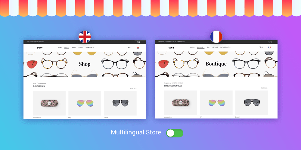 New multilingual store