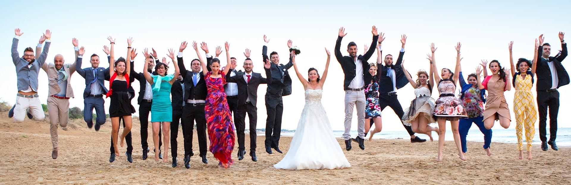 wedding sposa foto di gruppo