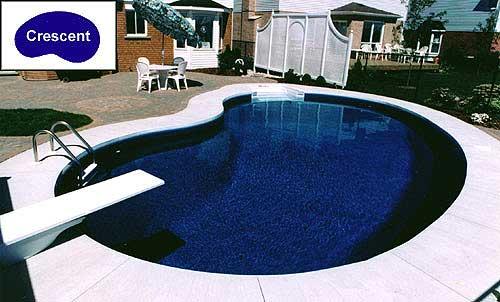 crescent inground pool