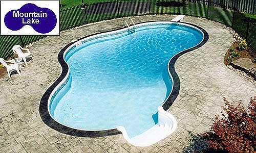 mountain lake inground pool