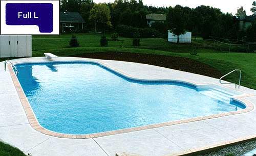 Full L inground pool