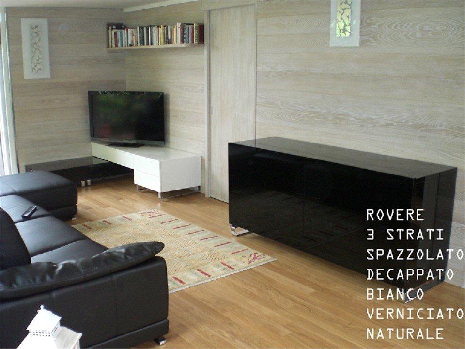 pavimento in rovere a 3 strati: spazzolato, decappato, bianco, verniciato, naturale