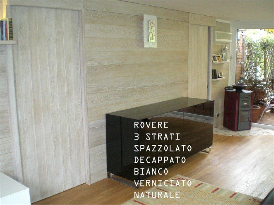 pavimento di rovere a 3 strati: spazzolato, decappato, bianco, verniciato, naturale