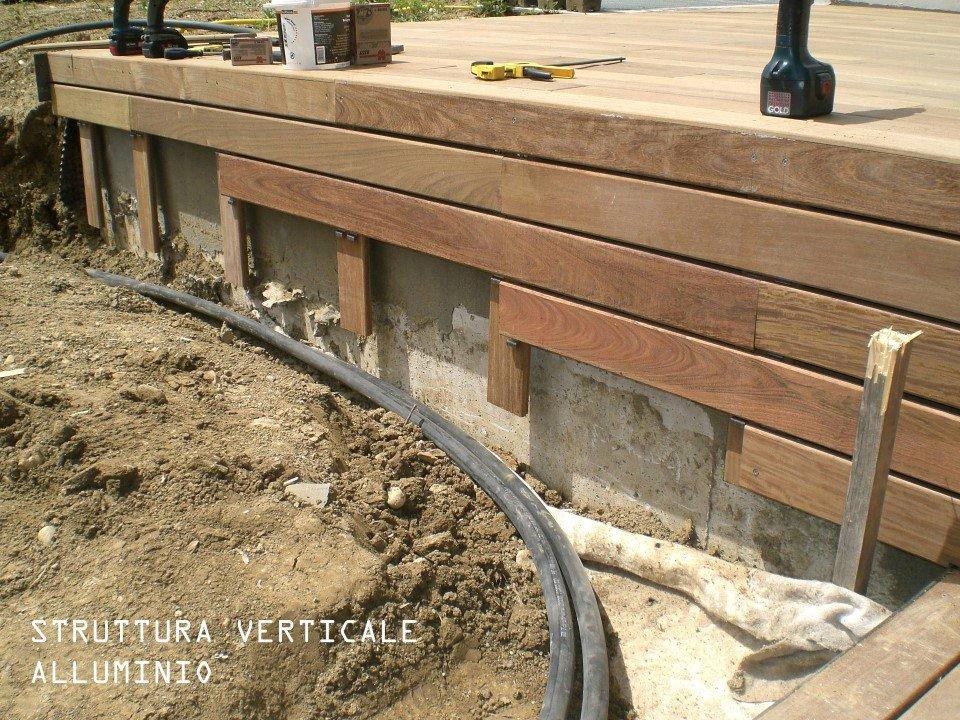 pavimento con struttura verticale in alluminio