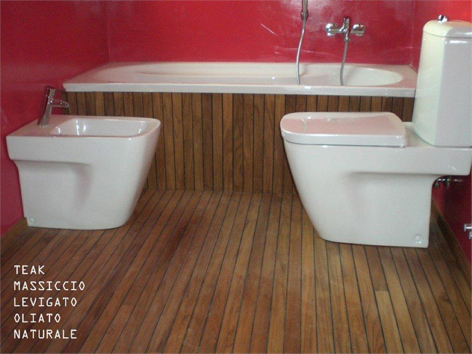 pavimento teak massiccio: levigato, oliato, naturale