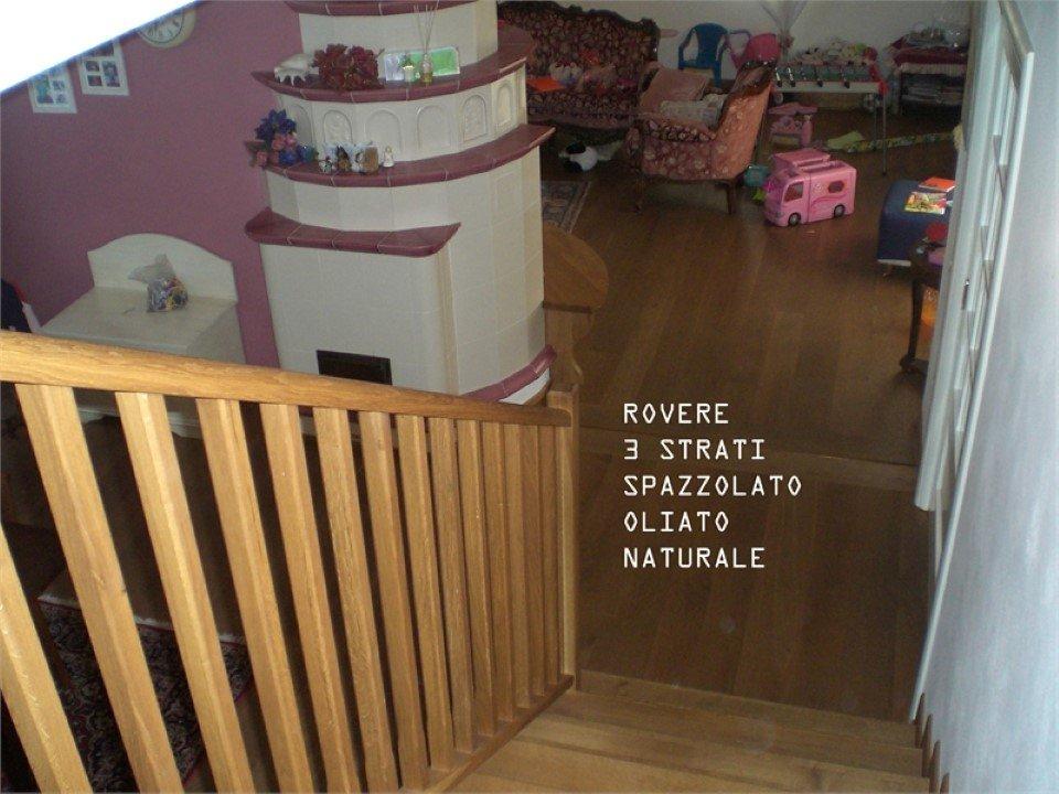 pavimento in rovere a 3 strati: spazzolato, oliato, naturale