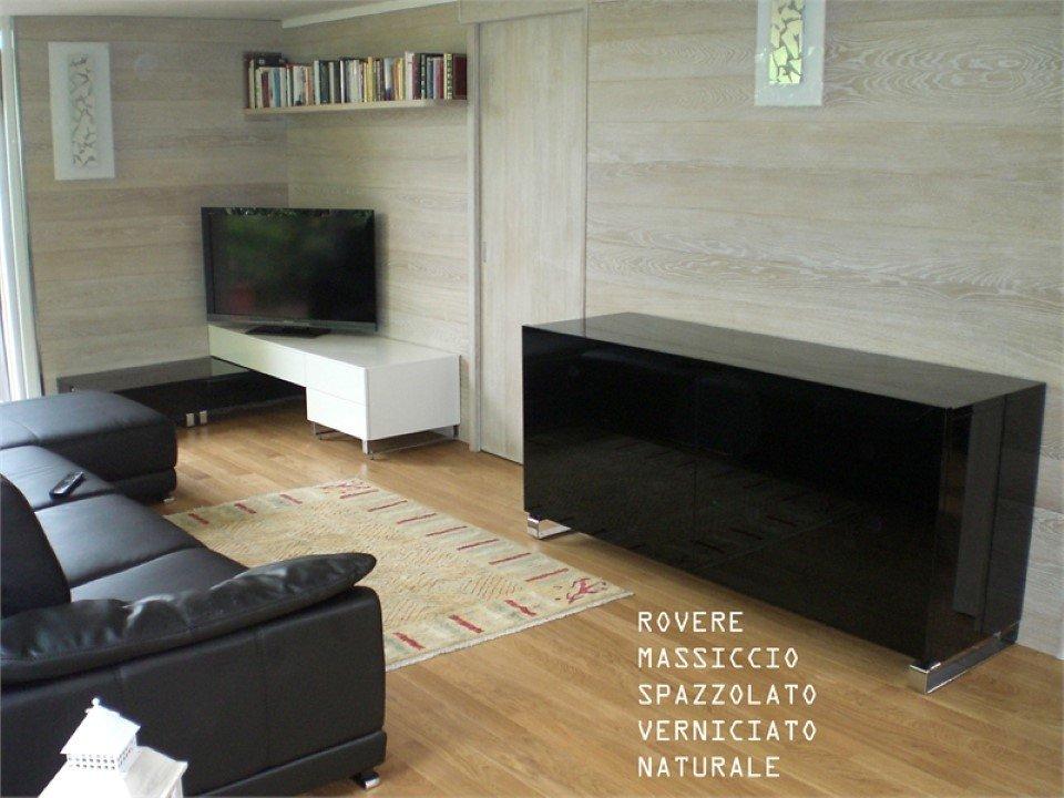 pavimento in rovere massiccio: spazzolato, verniciato, naturale