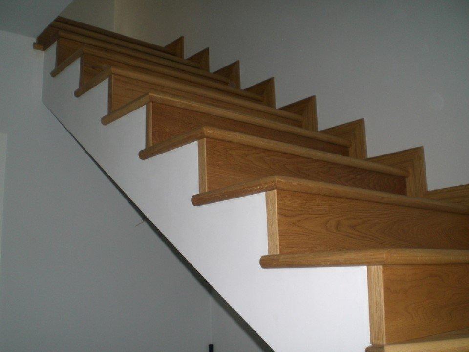 scala da interni in rovere doppia rampa senza corrimano