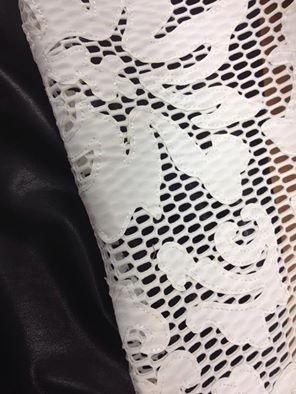Rete con inserti in pelle ecologica anche in nero