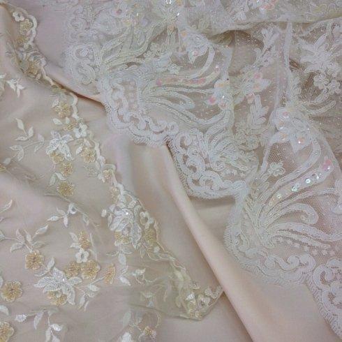 Stoffe ricamate per abiti da sposa