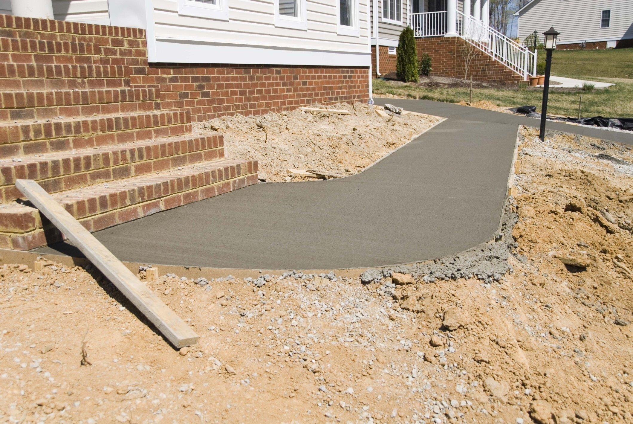 new pavement and sidewalks