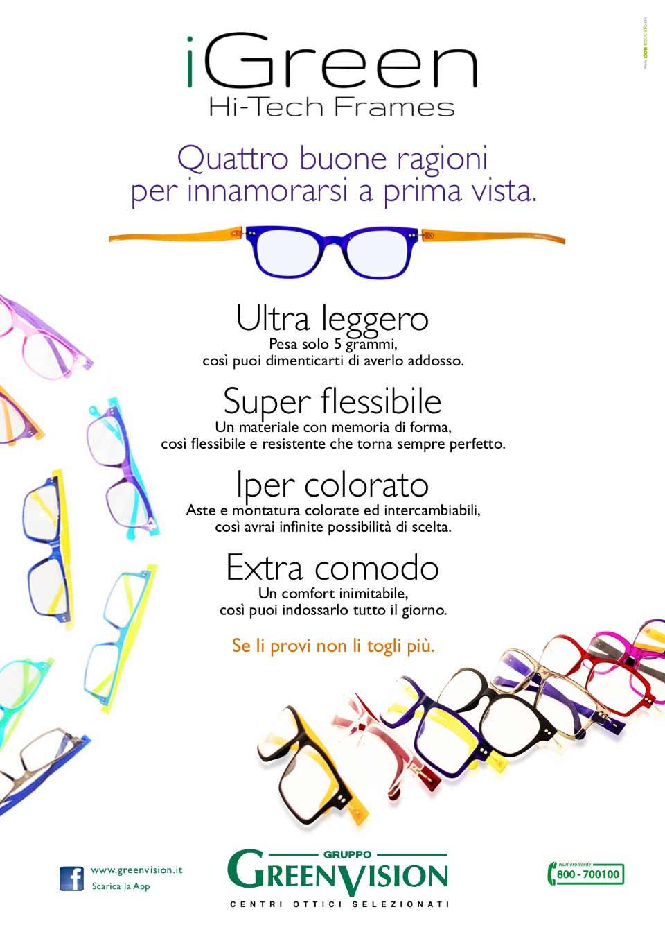 iGreen Hi-Tech Frames per gli occhiali da vista a Verona