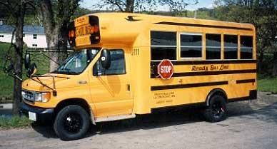 School bus in La Crescent