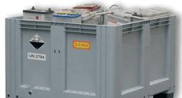 Fornitura di Box per il corretto stoccaggio delle batterie al Piombo esauste