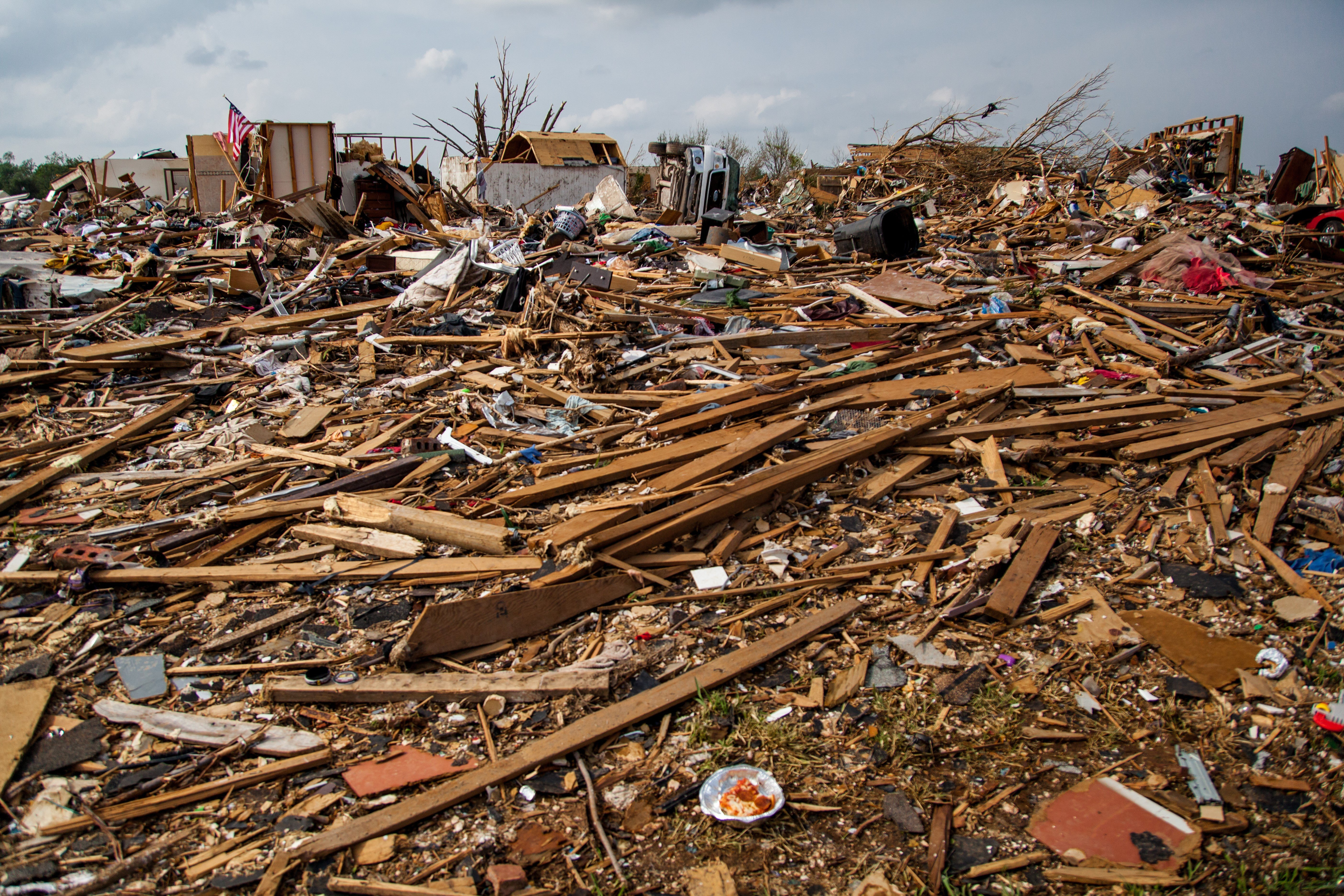Both manufactured homes and traditional construction are vulnerable to direct hits from tornados.
