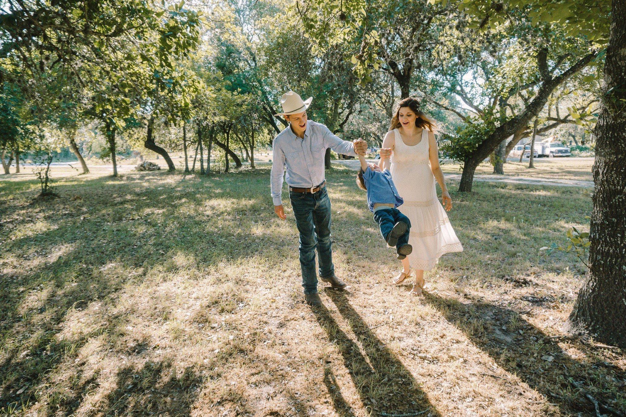 A San Antonio family enjoys their new mobile home on land.