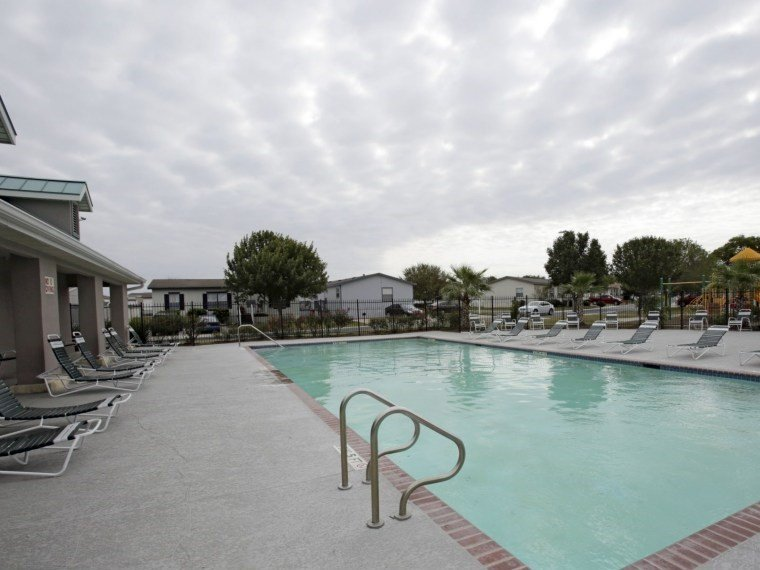 A san antonio manufactured home community pool.