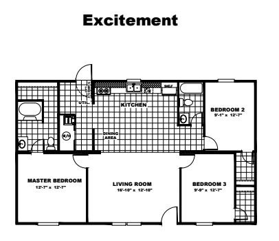 Tru Homes Excitement Floor Plan