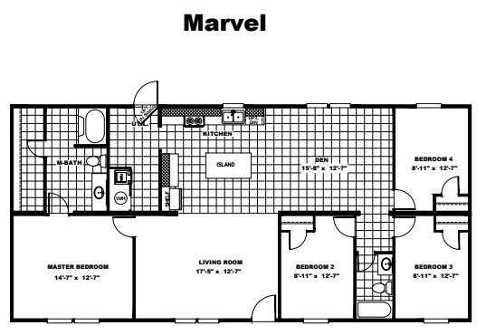 Tru Homes Marvel Floor Plan