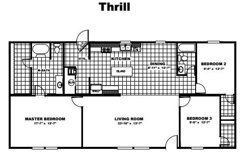 Tru Homes Thrill Floor Plan
