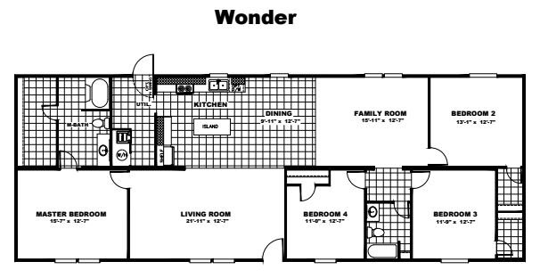 Tru Homes Wonder Floor Plan