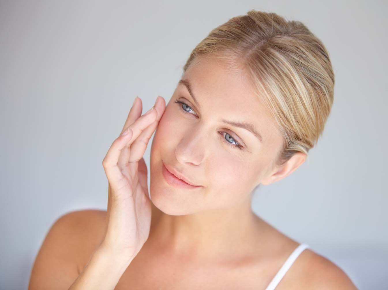 Woman face after beauty treatment